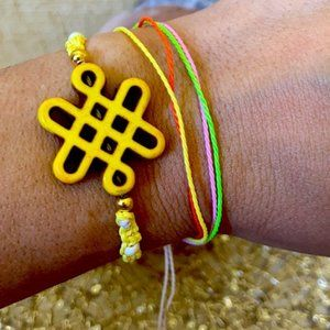 Howlite Chinese Knot macrame multilayer set